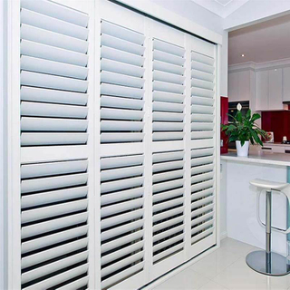 Best Price Aluminum PVC Folding Shutter for Home with Ventilation