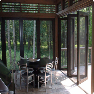Professionally Designed Aluminum Folding Door with Soundproof Effect Customizable Folding Door